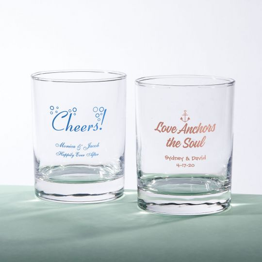 a314d82e59d Screen printed Personalized 13 oz. Rocks Glass: lafavoritafavors.com